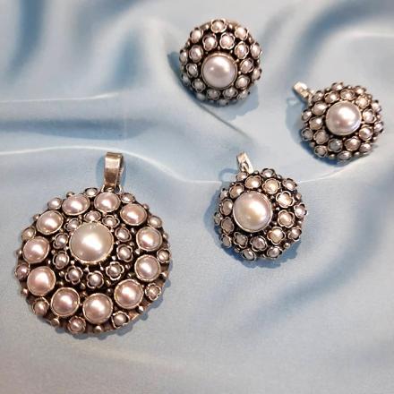 украшения +с барочным жемчугом +в серебре