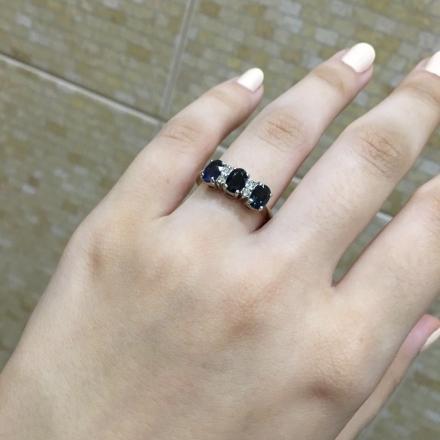 купить кольцо с сапфиром фото
