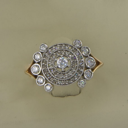 купить кольцо золоток с бриллиантами