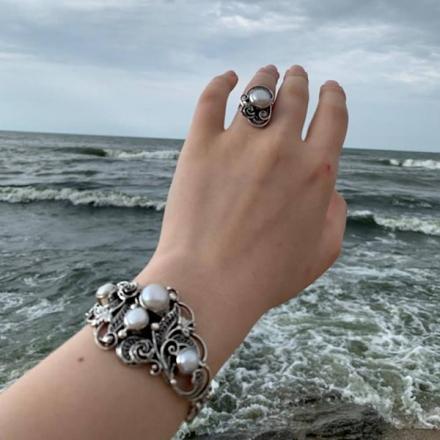 серебро комплекты кольцо