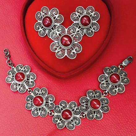 серебряные украшения +с кораллом