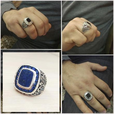 кольцо +с лазуритом