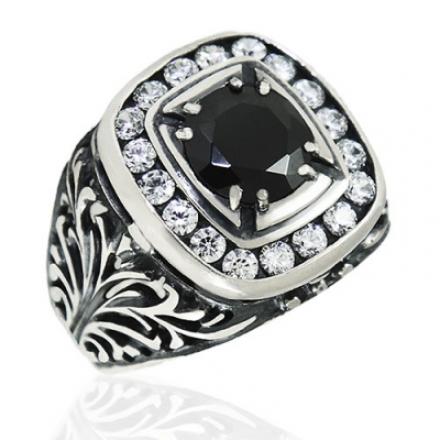 Мужское кольцо с камнями купить