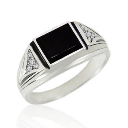 кольцо печатка мужская