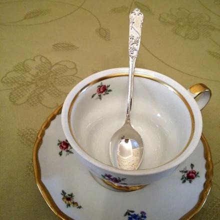 чайная ложка из серебра 925