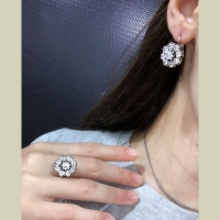 Серебряные серьги Малинка с позолотой