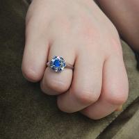 Серебряное кольцо Тюльпан