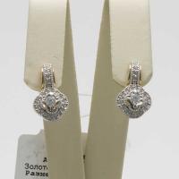 Cерьги из золота  с   бриллиантами