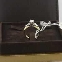 Кольцо из золота 750  со средним бриллиантом
