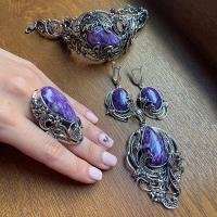 Крупные серебряные украшения