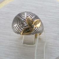 Кольцо золотое женское с бриллиантами