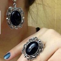 черный агат кольцо женское
