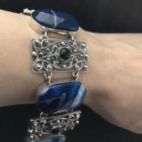 браслеты +на руку синий