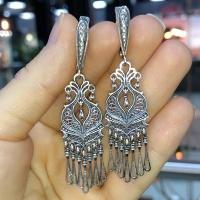 купить серьги длинные висячие серебро