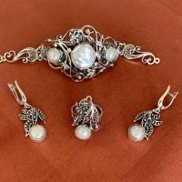 комплекты серьги +и браслет +из натуральных камней