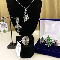 купить серебряное украшение +с камнями