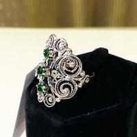 купить серебро украшение +с камнями