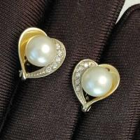 Cерьги  с    бриллиантами и жемчугом