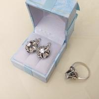 Серебряные серьги Тюльпан