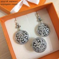 Круглые серьги серебро