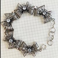 красивый серебряный браслет женский купить
