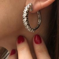 Серьги  и  кольца из серебра с фианитами