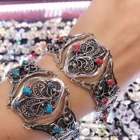 бирюза серебряный браслет