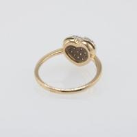 Кольцо из золота с россыпью бриллиантов