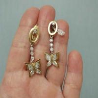 Серьги из золота с  бриллиантами Бабочки