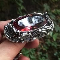 Серебряное кольцо с султанитом