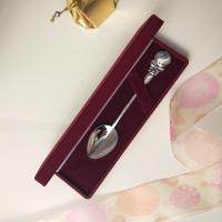 детская серебряная ложка часы