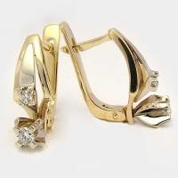 Cерьги золотые с бриллиантами