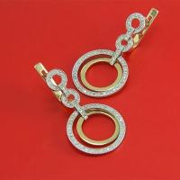 Cерьги-кольца из золота 585 с  бриллиантами