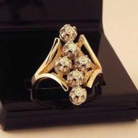 """Кольцо  с  бриллиантами  """"Ромб"""""""