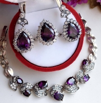 Комплект из серебра с флюоритом