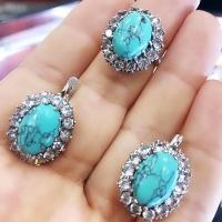 Комплект из серебра с камнями