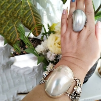 кольцо +с жемчугом серебро