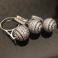 Комплект серебряные шары