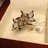 Кольцо из золота с  бриллиантами Бабочки
