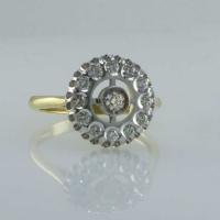 Кольцо  с  бриллиантами Малина