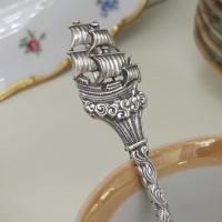 Детская чайная ложка из серебра Корабль