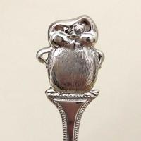 """Детская чайная ложка из серебра """"Пингвин"""""""