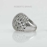 Кольцо  Roberto Bravo  из белого золота 750