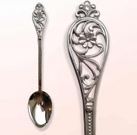 """Серебряная чайная ложка """"Цветок"""""""