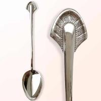 """Чайная ложка из серебра  925 пробы  """"Перо"""""""
