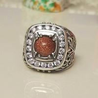 Мужское кольцо с авантюрином