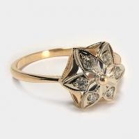 Кольцо  585 с бриллиантами СССР