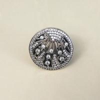Кольцо круглое серебро