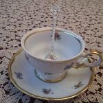 """Серебряная чайная ложка """"Веер"""" без черни"""