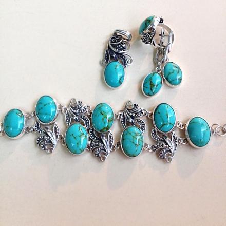 комплекты +с синим камнем